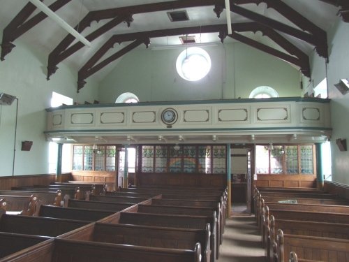 Ventonleague Free Methodist Chapel - dating from 1875 the central pews are the originals.